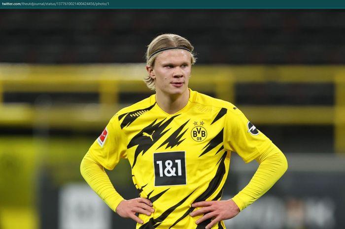 Penyerang Borussia Dortmund, Erling Haaland