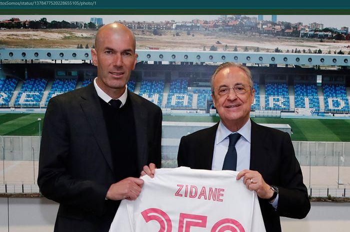 Zinedine Zidane sukses menorehkan rekor 250 laga bersama Real Madrid kala melawan Eibar dalam lanjutan laga Liga Spanyol 2020-2021.