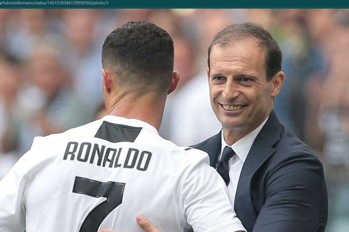 Pelatih Juventus, Massimiliano Allegri, mengkonfirmasi Cristiano Ronaldo ingin pergi dari Turin.
