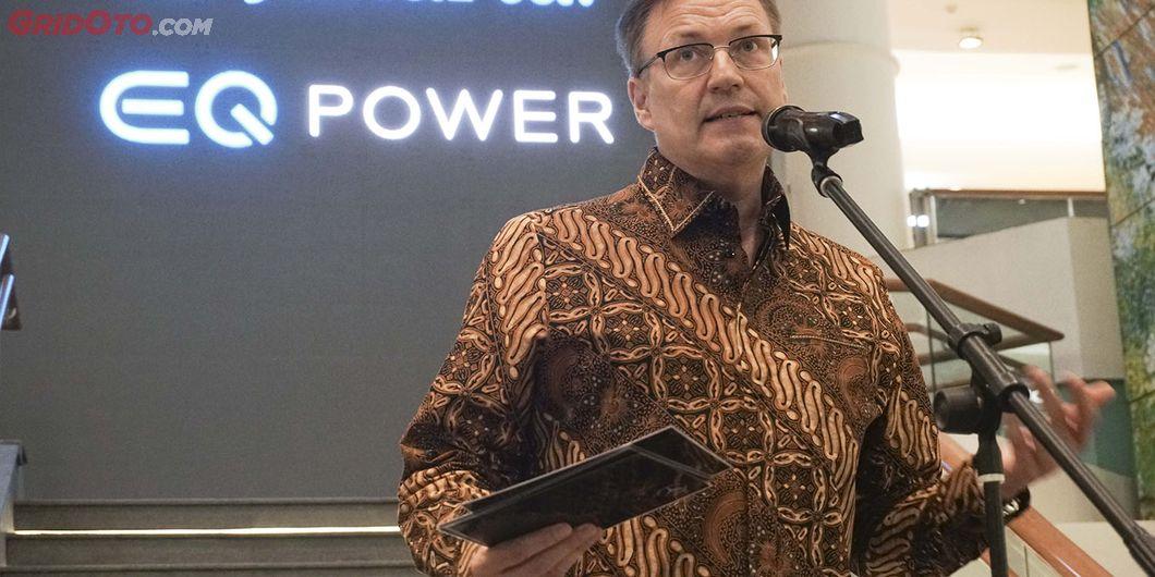 Roelof Lamberts, Presiden direktur Mercedez -Benz Indonesia. Photo: Rianto Prasetyo