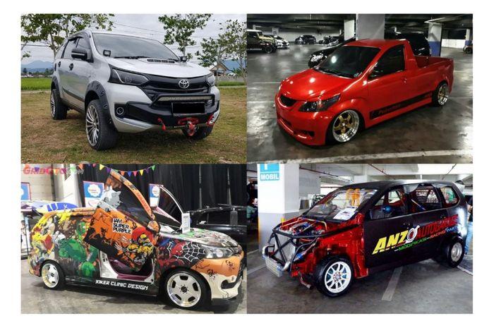 Kolase modifikasi ekstrem Toyota Avanza bergaya ekstrem