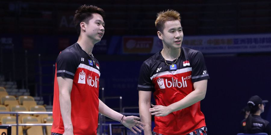 Link Live Streaming Kejuaraan Asia 2019 - Marcus/Kevin di Court 1