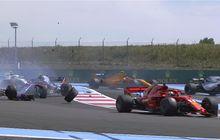 Mimpi Buruk, French Kiss Sudah Terjadi Beberapa Detik GP F1 Prancis Dimulai