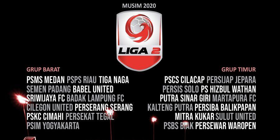 Jadwal dan Pembagian Grup Liga 2 2020, Potensi Perang Saudara!