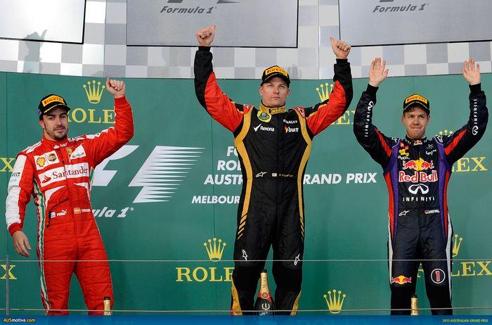 Kimi Raikkonen menang F1 Australia