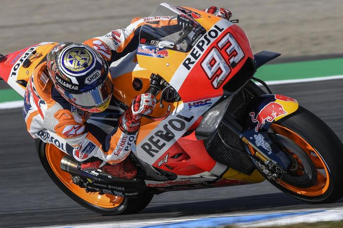 Ilustrasi. Marc Marquez start dari baris kedua di MotoGP Jepang 2018