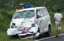Tabrakan Mobil Dinas Dan Ambulans, Korban Sempat Kontak Telepon Kolega