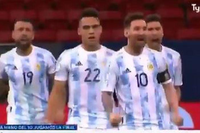 Lionel Messi Larang Rodrigo de Paul Nyanyikan Lagu yang Menghina Brasil Pasca Juarai Copa The USA 2021 thumbnail