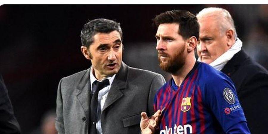 2,5 Tahun Latih Barcelona, Valverde Curhat Betapa Sulit Kasih Saran ke Lionel Messi