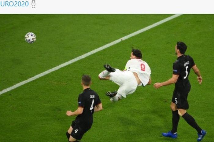 Adam Szalai membawa Hungaria pecundangi timnas Jerman pada babak pertama dalam matchday ketiga Grup F EURO 2020 di Football Arena Munich.