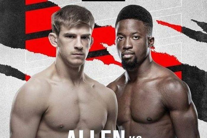 Poster duel Arnold Allen vs Shodiq Yusuff yang manggung di UFC Vegas 23.