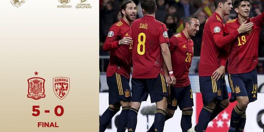 Hasil Kualifikasi Euro 2020 - Spanyol Menang Telak atas Rumania