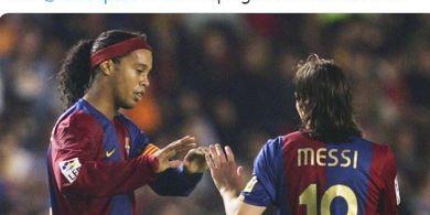 Akui Jarang Ngobrol dengan Lionel Messi, Ronaldinho: Dia Punya Kehidupan yang Sulit