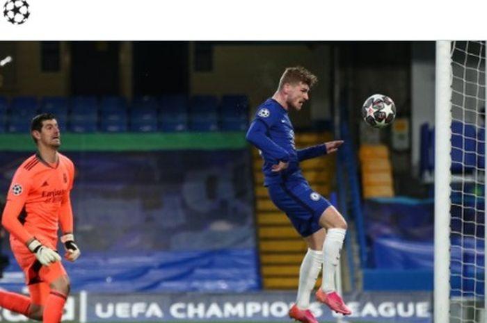 Timo Werner bawa Chelsea ungguli Real Madrid di babak pertama leg kedua babak semifinal Liga Champions.