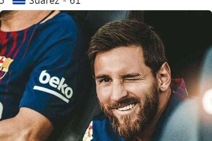 Megabintang Barcelona asal Argentina, Lionel Messi.