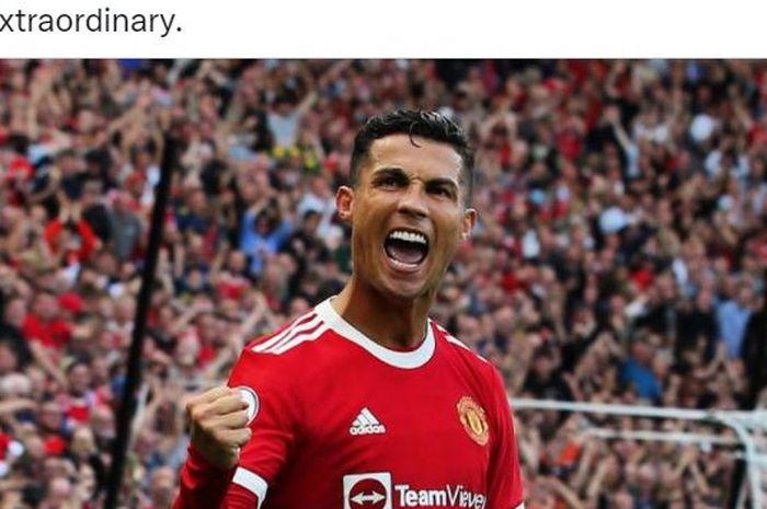 Megabintang Manchester United, Cristiano Ronaldo.