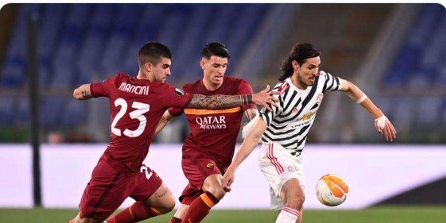 Smalling Cuma Main 30 Menit, Cavani Bawa Man United Ungguli AS Roma di Babak Pertama