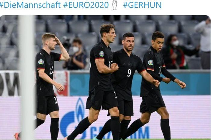 Bangkit dari dua kali ketertinggalan gol melawan timnas Hungaria, Jerman amankan tiket ke 16 besar EURO 2020.