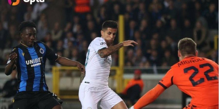 Cancelo dan Mahrez Bawa Man City Ungguli Club Brugge pada Babak Pertama