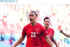 Gol Cepat Yussuf Poulsen Bawa Denmark Bungkam Belgia pada Babak 1