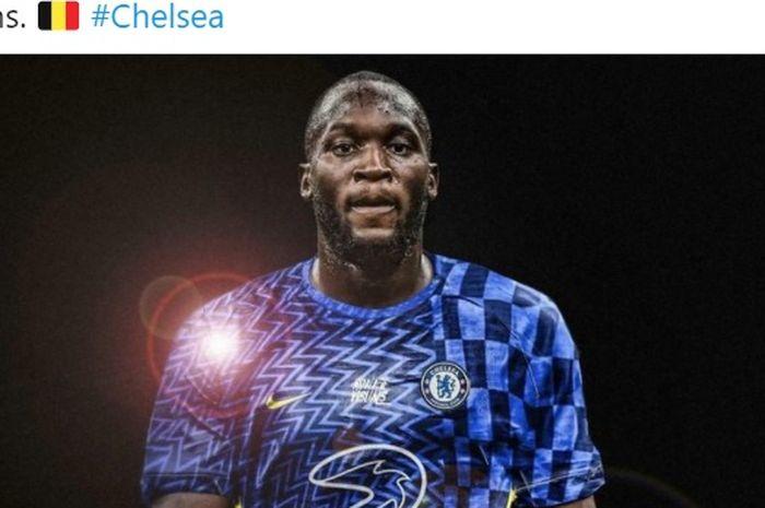 Romelu Lukaku hijrah dari Inter Milan ke Chelsea.