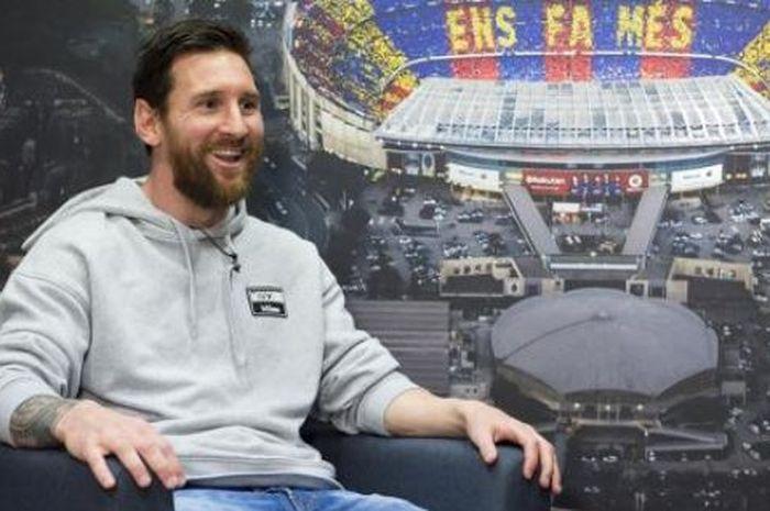 Megabintang Barcelona, Lionel Messi, menjalani wawancara dengan Mundo Deportivo.