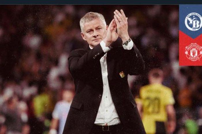 Reaksi pelatih Manchester United, Ole Gunnar Solskjaer, dalam laga Liga Champions di kandang Young Bouys, 14 September 2021.