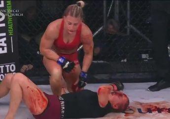Merinding! Petarung MMA Ini Minum Darah Segar Usai Bikin Lawan KO