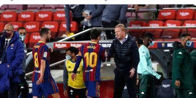 Bingung Pilih Eksekutor Penalti Barcelona, Ronald Koeman Serahkan Keputusan pada Lionel Messi