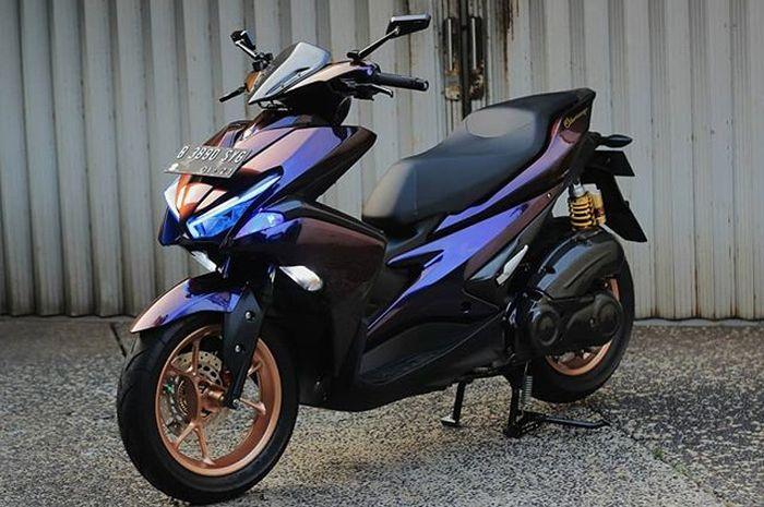 Yamaha Aerox 155 VVA dengan ceramic coating