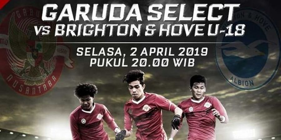 Link Live Streaming Garuda Select Vs Brighton & Hove Albion U-18