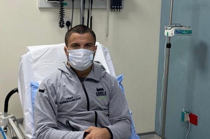 Umar Nurmagomedov saat dirawat jelang UFC 254 lalu.