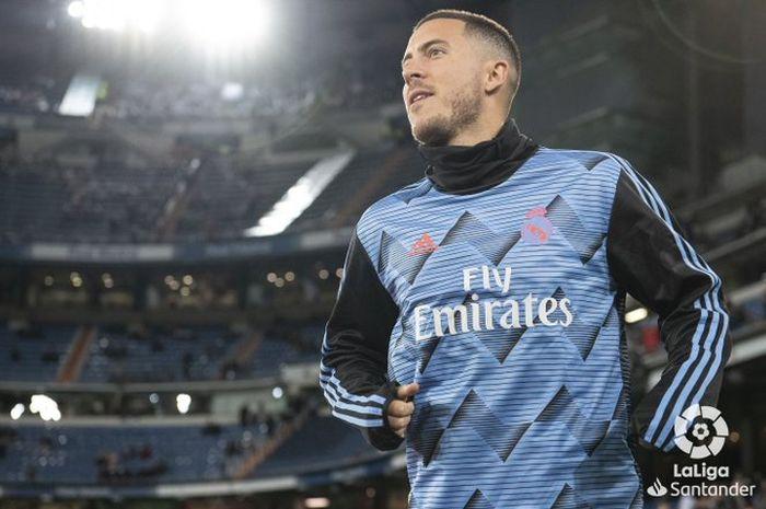 Bintang Real Madrid, Eden Hazard, saat menjamu Celta Vigo pada Minggu (16/2/2020).