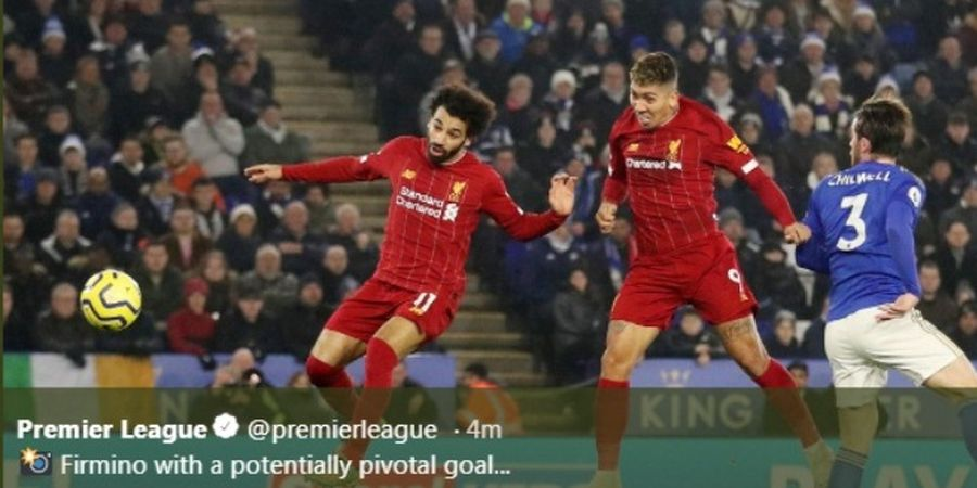 Kepala Roberto Firmino Bawa Liverpool Unggul di Kandang Leicester