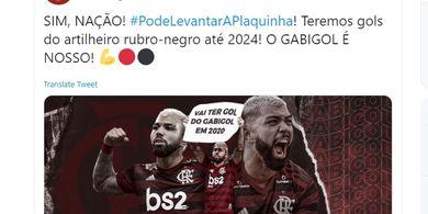 Resmi, Flamengo Rekrut Permanen Monster Golnya dari Inter Milan