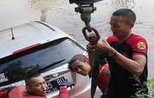 Honda HR-V Terjun Ke Sungai, Kaki Enggak Sinkron Lepas Pedal Gas dan Kopling