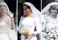 Fantastis! Ini Taksiran Harga Gaun Pengantin Putri Diana, Kate Middleton dan Meghan Markle