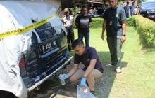 Toyota Kijang Sasaran Pembakaran, Cover Bodi Meleleh, Satu Pria Diamankan