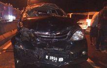 Toyota Avanza Hancur, Wajah Sampai Atap Ringsek di Jembatan Suramadu
