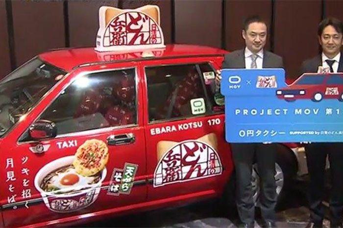 Taksi gratis yang diluncurkan di Jepang