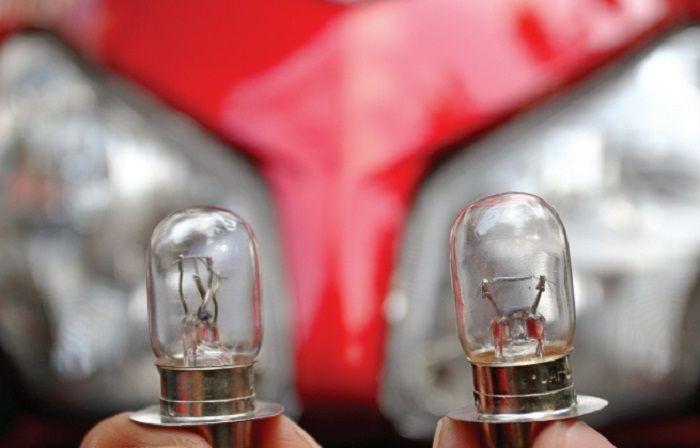 •Ganti ukuran bohlam bikin terang cuma motor arus AC