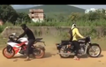 Video KTM RC200 Tarik Tambang Lawan Royal Enfield Bullet, Menang Mana?
