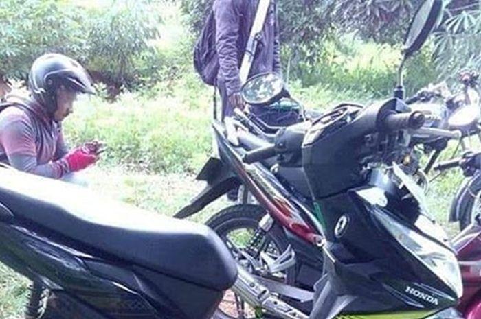 Maling motor Honda BeAT di Wonogiri