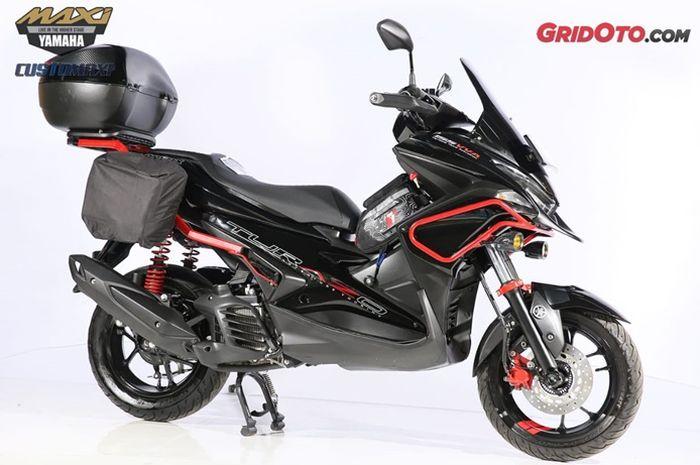 Yamaha Aerox 155 dirombak ala motor adventure