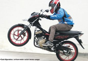Hanya Ganti Karbu Power Suzuki Satria F-150 Hampir Naik 2 HP
