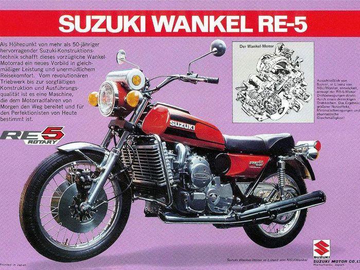 Suzuki RE5 jadi motor Suzuki yang paling unik hingga sekarang