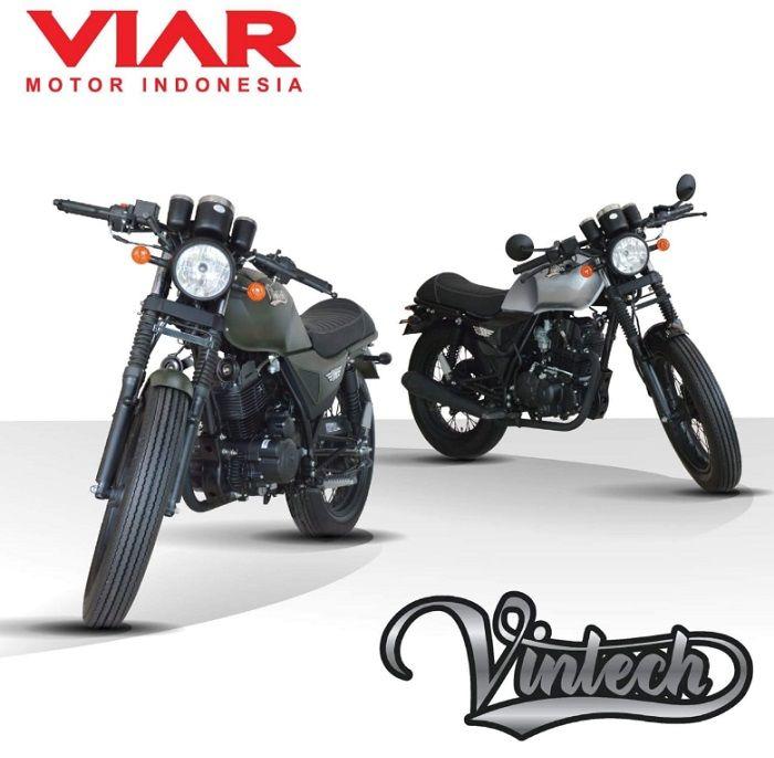 Viar Vintech bergaya klasik dengan harga yang pas di kantong.