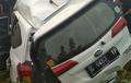 Miris, Perlintasan Kereta Api Tanpa Palang Pintu, Daihatsu Sigra Terseret Kereta