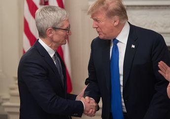 Tim Cook dan Donald Trump akan Kunjungi Pabrik Apple di Texas