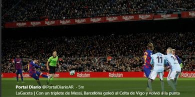 Tendangan Bebas Lionel Messi Bikin Pelatih Tim Kurcaci Ngeri